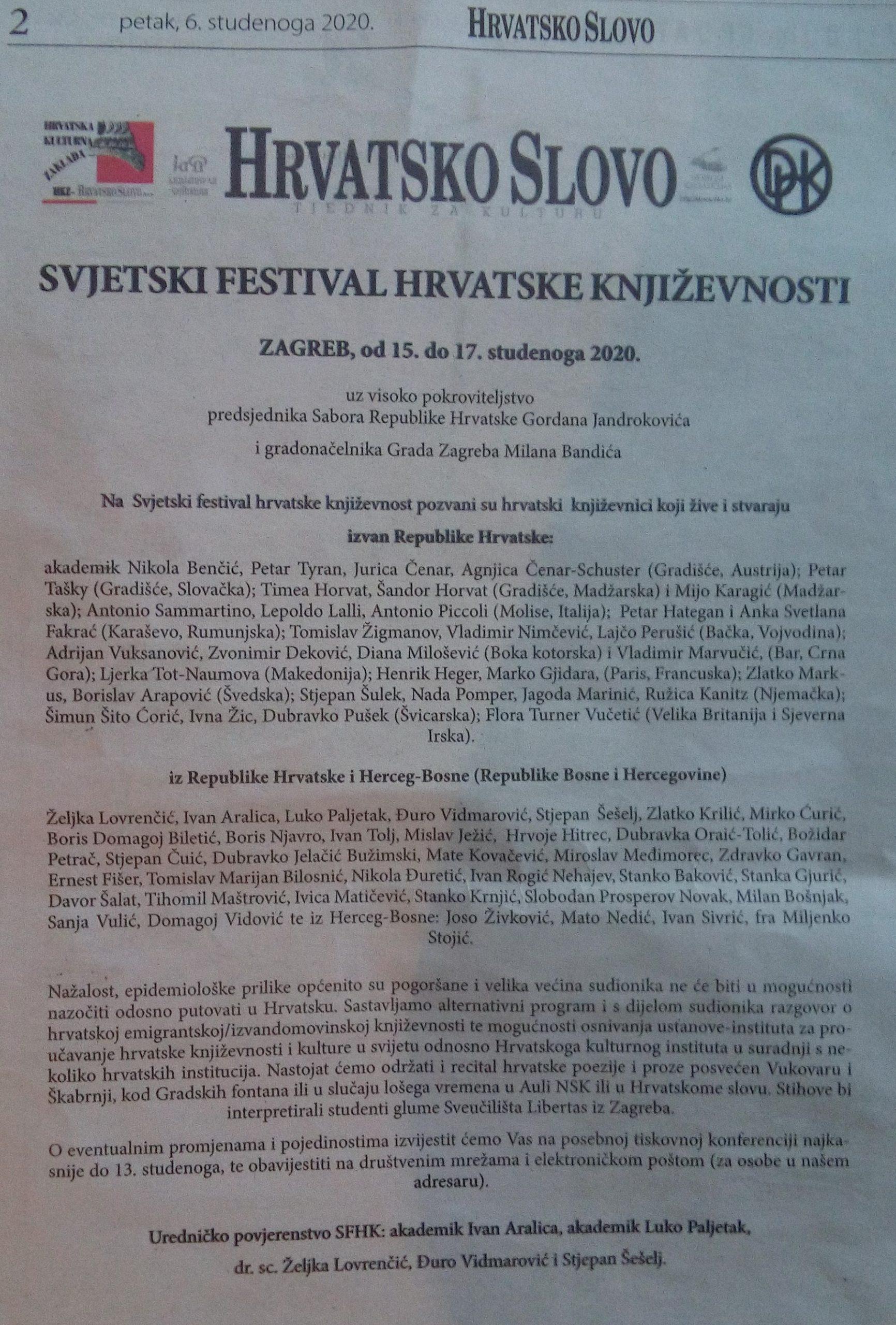 World Festival of Croatian Literature