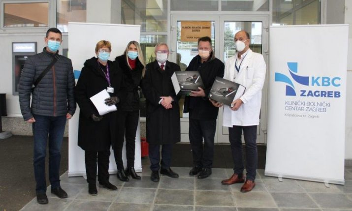Croatian American Professionals donate medical equipment to earthquake-damaged hospitals in Zagreb