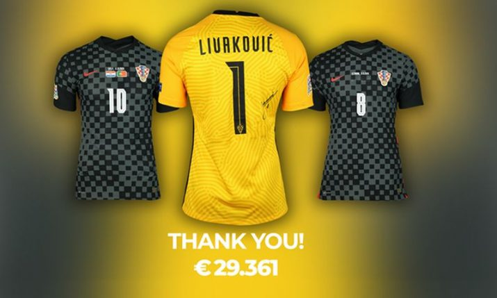 Croatia's worn match shirts raise almost €30k in online auction, Modrić and Kovačić most expensive