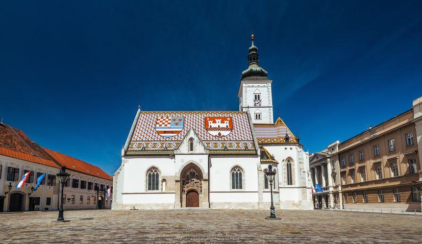 St Mark's Square Zagreb designated a guarded area