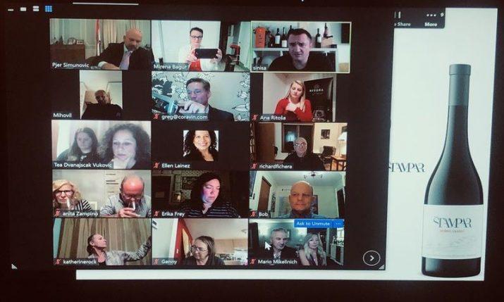 Wine tasting celebrating virtual Martinje streamed from Croatian Embassy in DC