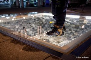 Vukovar gets new Homeland War memorial - shell embedded in footpath