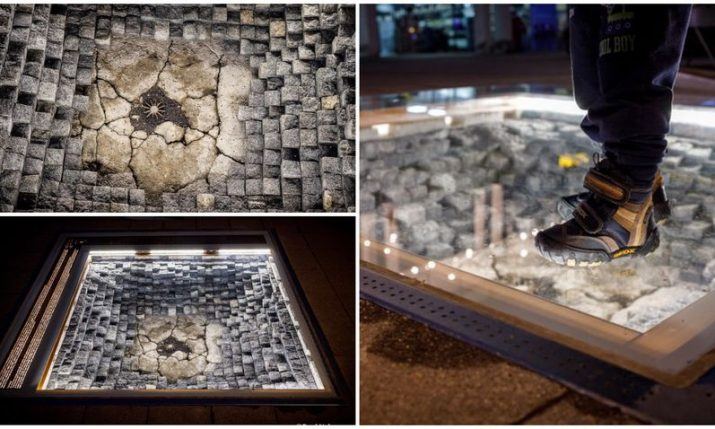 PHOTOS: New Vukovar memorial – authentic mortar shell from war embedded in footpath