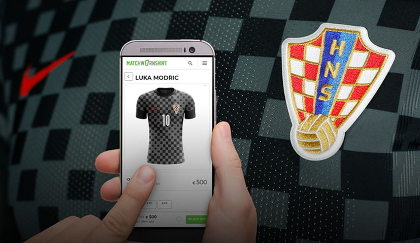 Croatia's worn match shirts against Turkey to be auctioned online