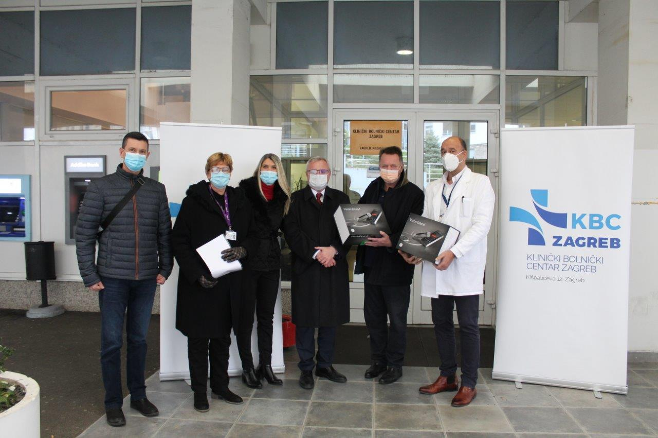 donation of medical equipment provided to earthquake damaged hospitals Zagreb Association of Croatian American Professionals Foundation