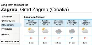 first snow in zagreb
