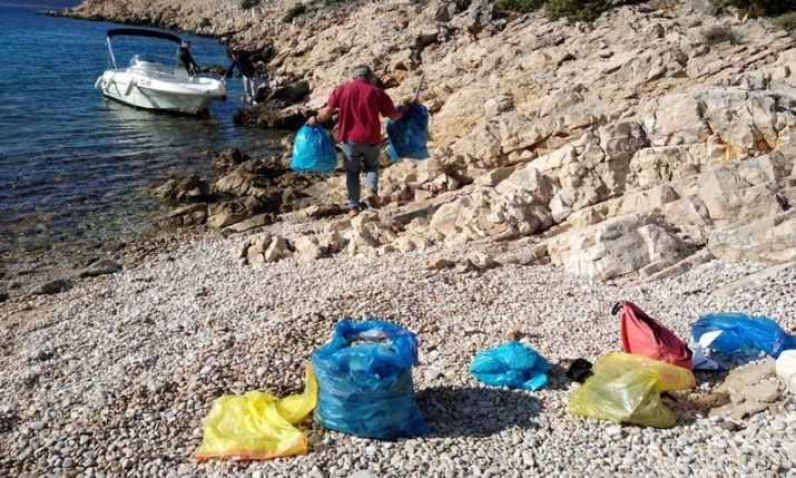 Five tonnes of marine debris collected on Croatian coast