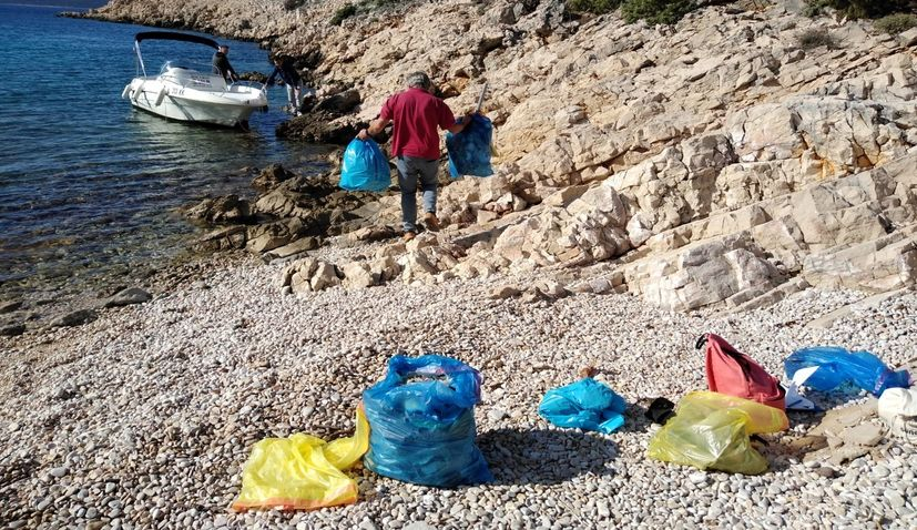 Five tonnes of marine debris collected on Croatian coast