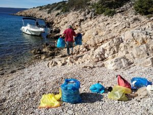 five tonnes of marine debris was collected on Croatian coast