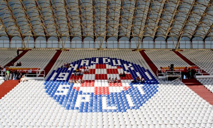 Hajduk Split constructing camp at Divulje