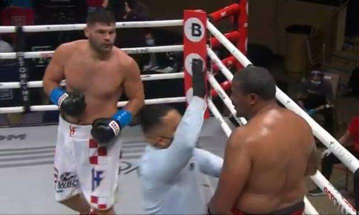 Croatian heavyweight boxer Filip Hrgović stays undefeated after beating Rydell Booker