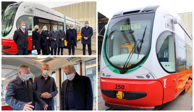 Croatian firm Končar delivers first electric tram to Latvia