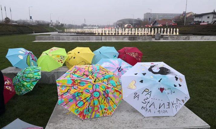 Lions Club Zrinjevac present  Umbrellas of Unity & Kindness campaign