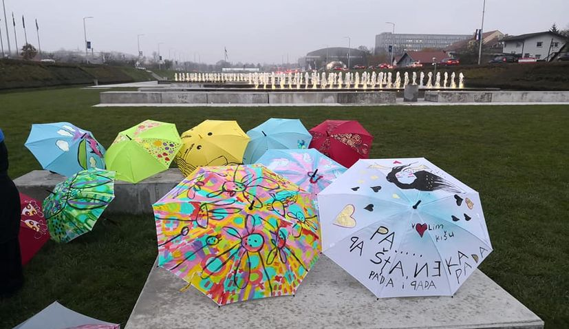 Lions Club Zrinjevac present  Umbrellas of Unity & Kindness campaign