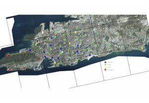 Split bike share map
