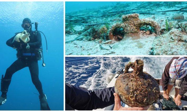 Hvar: Two 2,000-year-old preserved shipwrecks, ancient wine jug, strainer discovered