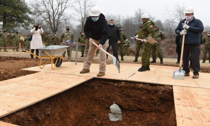 Construction of army field hospital and troop accommodation facility begins at Slunj