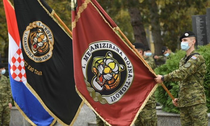 "Croatia's 1st Guard Brigade ""Tigers"" marks 30th anniversary"