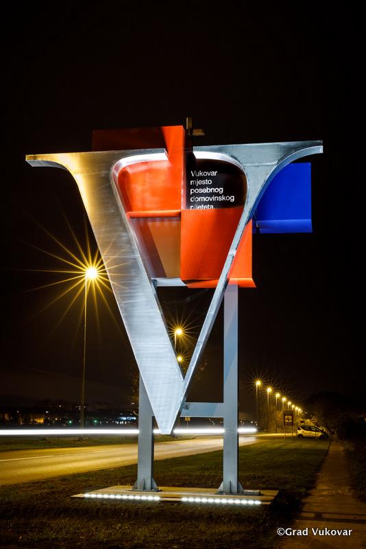 V sculpture Vukovar