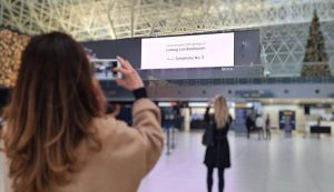 """Beethoven Moment"" at Franjo Tuđman Airport"