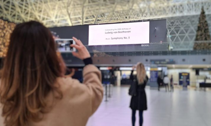 A musical moment at Zagreb Airport marked 250th anniversary of Beethoven's birthday
