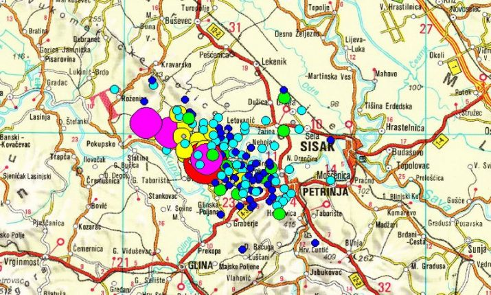 Petrinja area hit by 374 tremors, including 109 in past two days