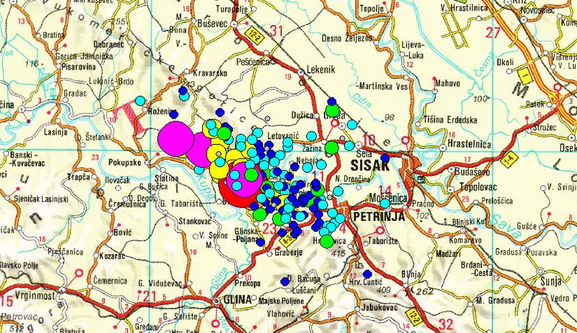 Croatia earthquakes