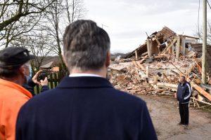 Croatia president visit earthquke site