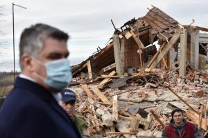 Croatia president visit earthquke site