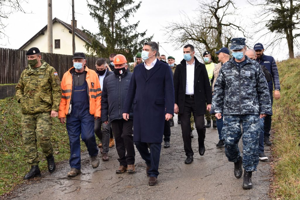 Croatia president visit earthquake site