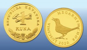 Croatian one kuna gold coin