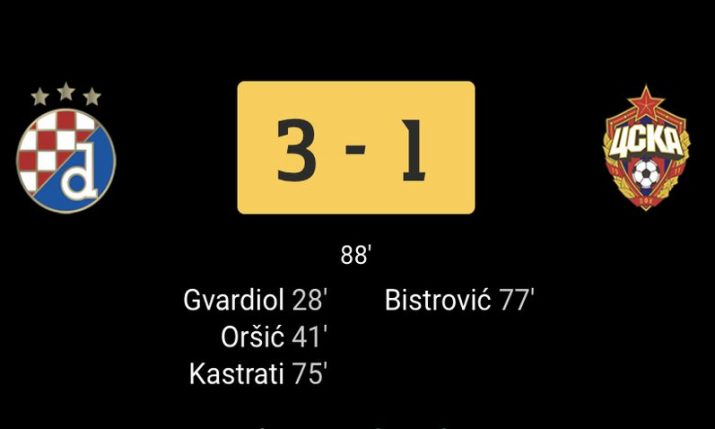 Dinamo Zagreb breaks European record after victory tonight against CSKA Moscow