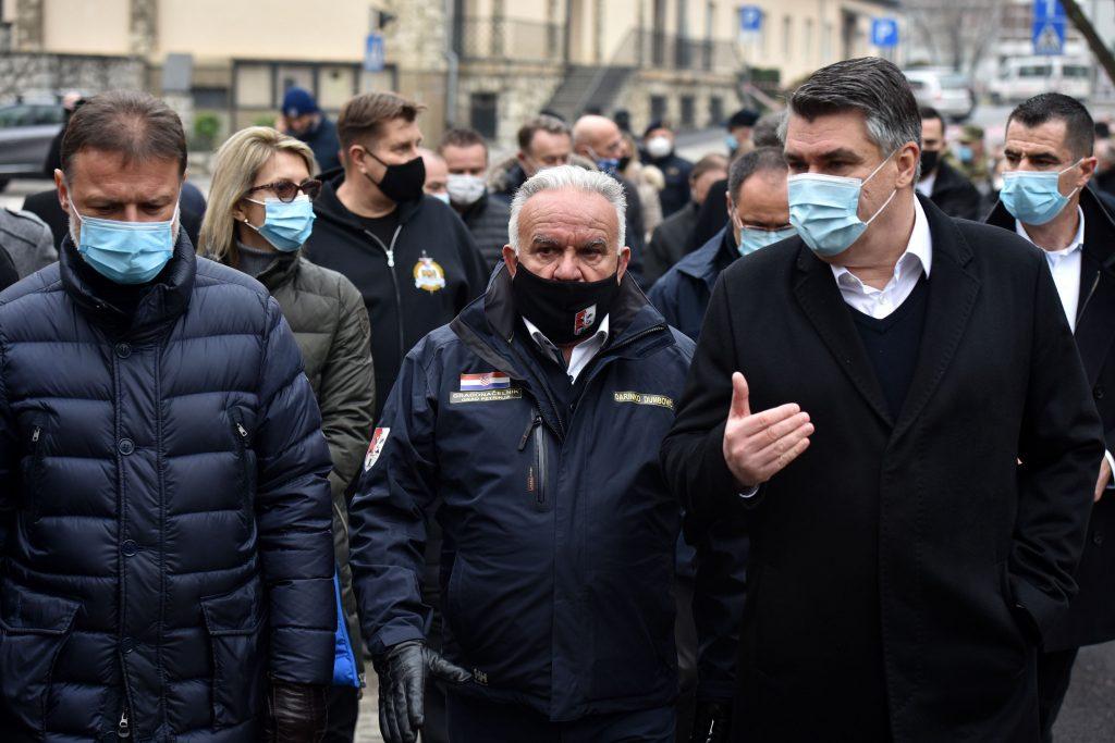 PM, Parliament Speaker, President tour Petrinja after earthquakes