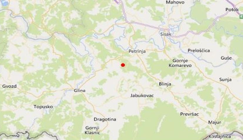 Quakes measuring 4.7 and 4.8 hit central Croatia on Wednesday morning