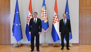 Russia's Foreign Minister Sergey Lavrov, on an official visit to Croatia