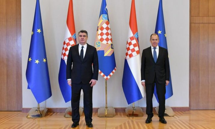 Russia's Foreign Minister Sergey Lavrov on official visit to Croatia