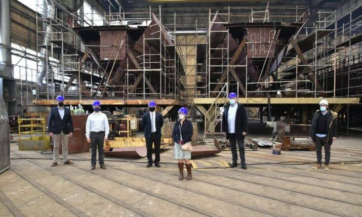 U.S. military delegation visits Brodosplit shipyard