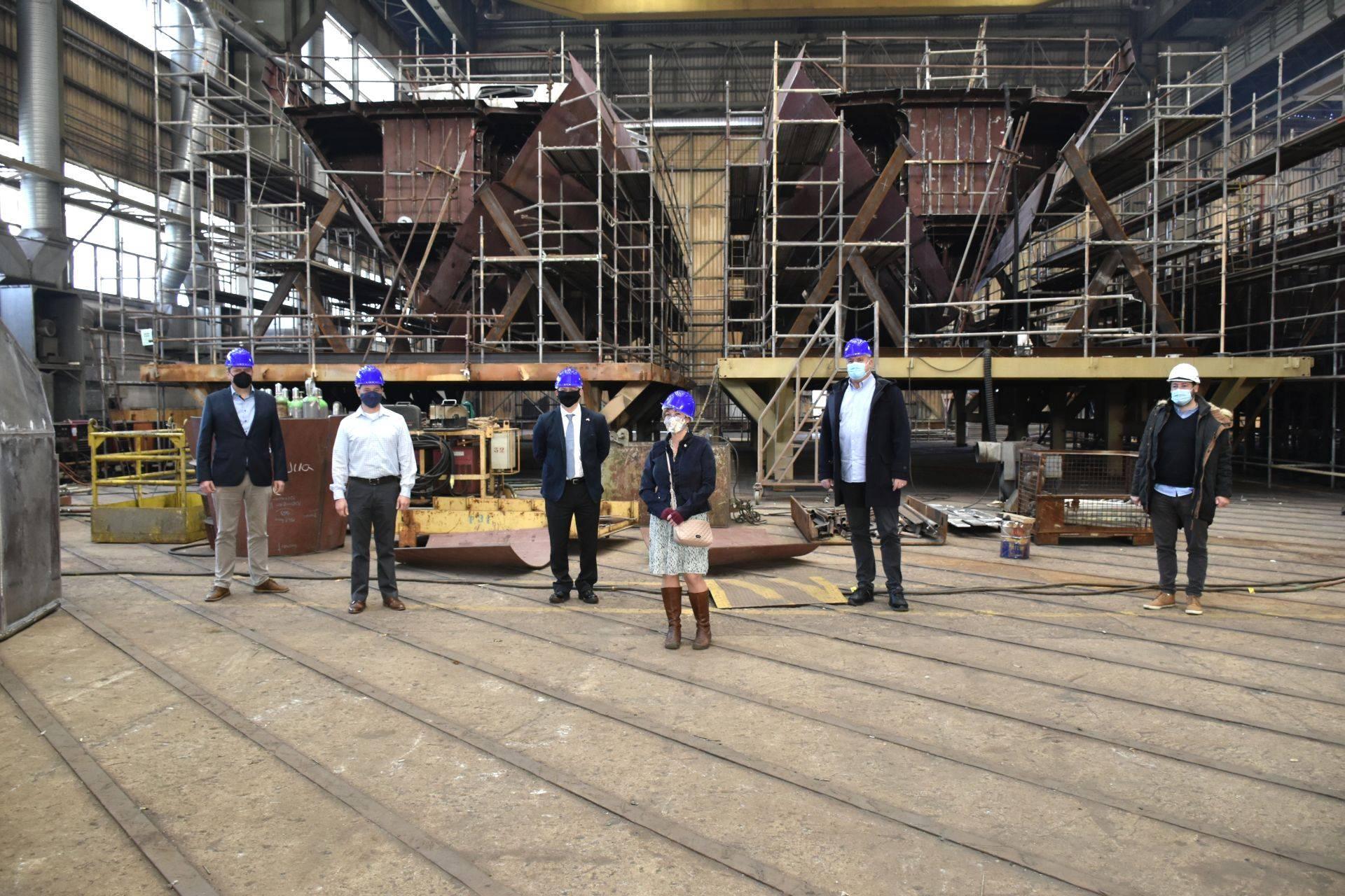 U.S. military delegation visits Brodosplit shipyard
