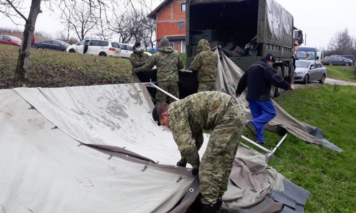 155 container homes and 19 tents set up in earthquake-hit area