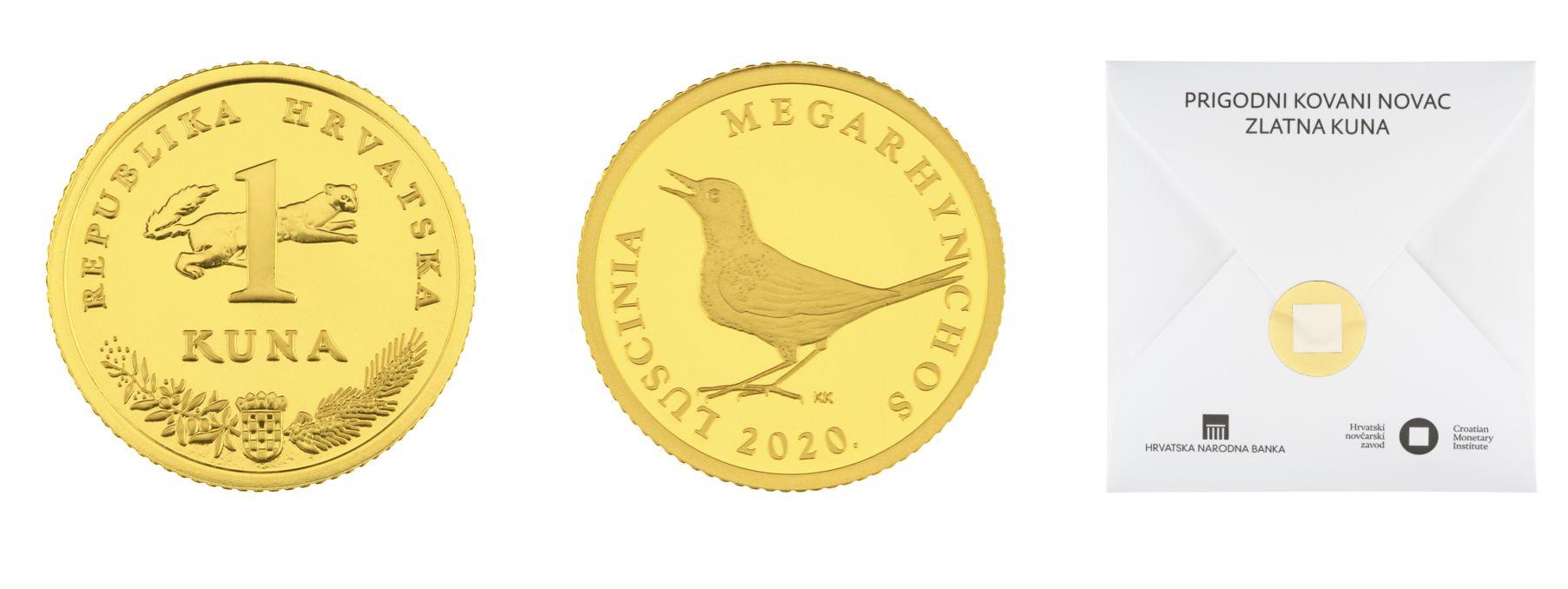 croatian gold coin one kuna