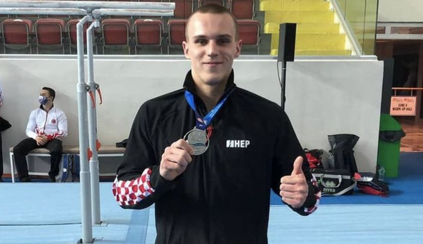 Croatia's Filip Ude, Tin Srbic and Aurel Benovic win silver medals at European gymnastics championships