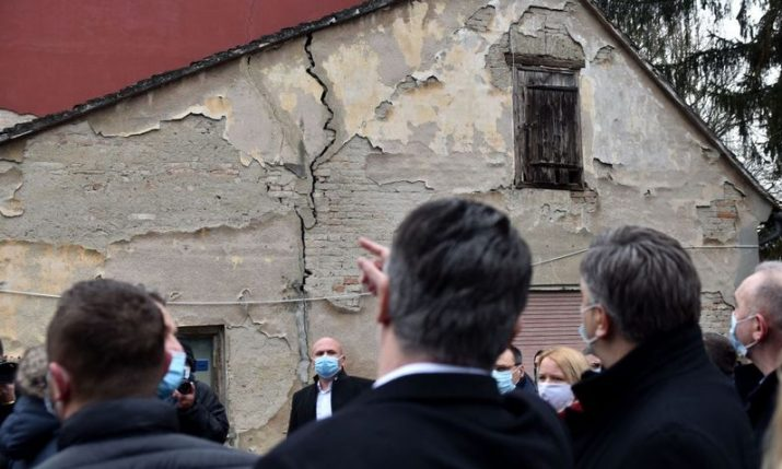 PHOTOS: Croatian President and PM visit Petrinja after earthquake