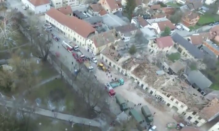 VIDEO: Ministry of the Interior publish aerial footage over Petrinja after the quake