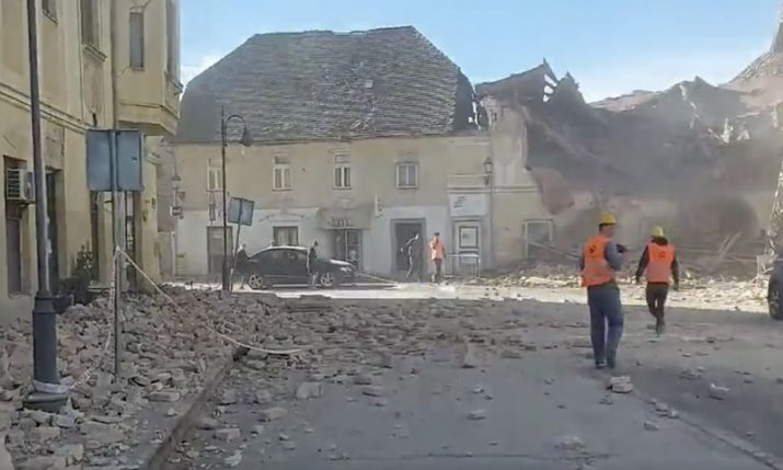 6.2 magnitude earthquake rocks Croatia