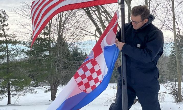 UFC champ Stipe Miocic displays his Croatian pride to 1.3 million fans