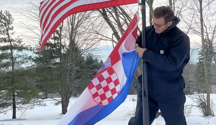 UFC champ Stipe Miocic displays his Croatian pride to 1.3 million fans