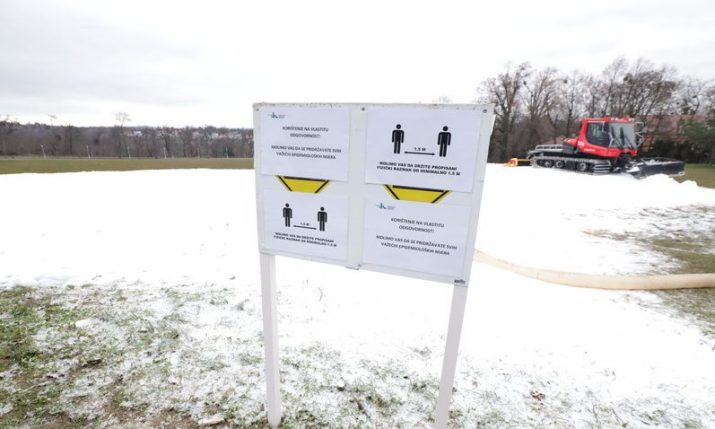 Cmrok: Zagreb's winter sledding park officially opened today