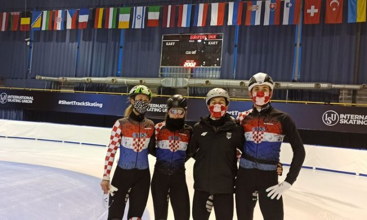 Croatian team taking on best European speed skaters at champs in Poland