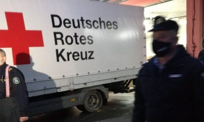 German firefighters deliver 110 tonnes of firefighting, medical equipment, food to Sisak