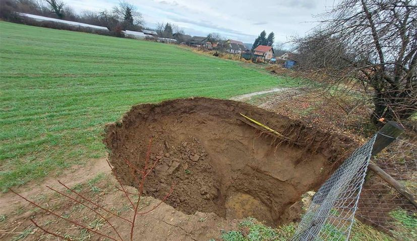 Sinkholes appearing in ground around Croatia's earthquake-affected area